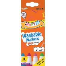 Kraftee 4ct Washable Markers