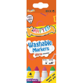 Kraftee 4ct Washable Markers