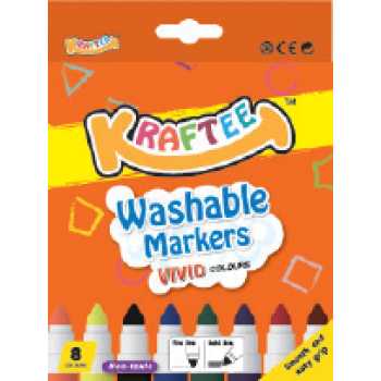 Kraftee 8ct Washable Markers