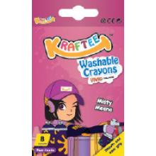 Kraftee 8ct Washable Crayon Misty Meena