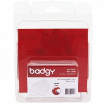 Badgy CBGC0020W - Thick Blank PlasticCard