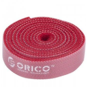 Orico CBT-1S Reusable Velcro Cable Ties 1M - Red