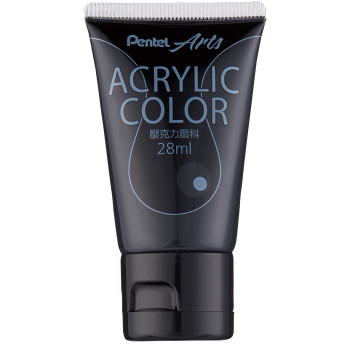 Pentel Acrylic Colour 28ml Black (T28)