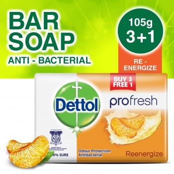 Dettol Body Soap Re-Energize 105g 3+1 (free)