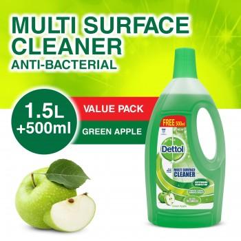Dettol Multi Action Cleaner 1.5L+FOC 500ml (Green Apple)