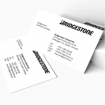 Business Card / Thank you card (100pcs/box) - 1 Side Black and White