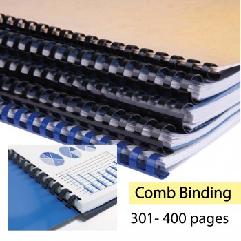 Comb Binding Service for Book Finishing - 301-400pages