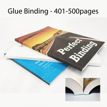 Glue Binding Service for Book Finishing - 401-500pages