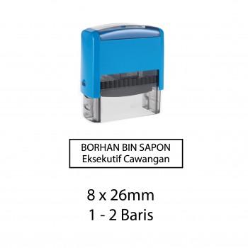Custom Made Stamp - Self-inking type 8x26mm (1-2 baris)