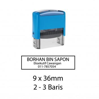 Custom Made Stamp - Self-inking type 9x36mm (2-3 baris)