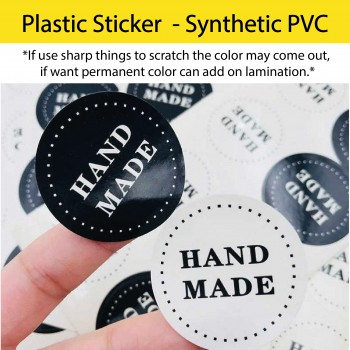 Plastic Sticker (synthetic PVC) Printing with Die Cut Service