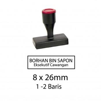 Custom Made Stamp - Rubber type 8x26mm (1-2 baris)