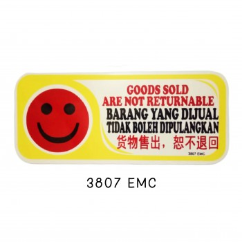 Sign Board 3807 EMC (GOODS SOLD ARE NOT RETURNABLE)