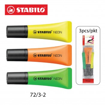 Stabilo Neon Highlighter 3's Assorted Color (72/3-2)