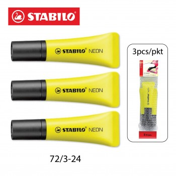 Stabilo Neon Highlighter 3's Color (72/3-24)