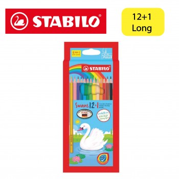 Stabilo Swan Colored Pencil Long 12+1 (1870S/13)