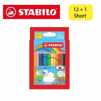 Stabilo Swan Colored Pencil Short 12+1 (1871S/13)