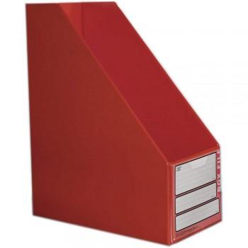 "CBE 06813 5"" PVC Box File (A4) RED"