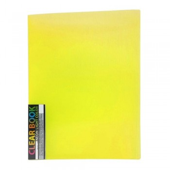 CBE 11440 Neon Colour Clear Holder - A4 (40pockets) Yellow