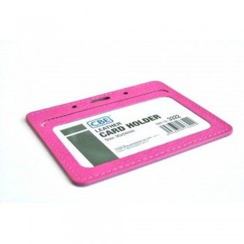 CBE Leather Card Holder 3322 - Pink (2 Sided ) (Item no: B10-41 PK) A1R3B63