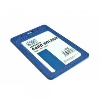 CBE Leather Card Holder 3323 - Blue (2 Sided ) (Item no: B10-40 BL) A1R3B62