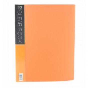 CBE Merry Colour Clear Book VK30 A4 ORANGE ( ITEM NO : B10 55 O )