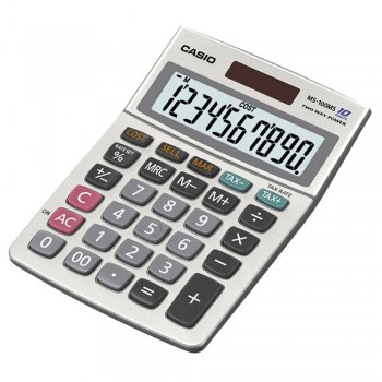 Casio Calculator - 10 Digits, Solar & Battery, Cost/Sell/Margin, Tax Calculation (MS-100MS)