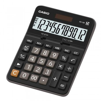 Casio Desktop Calculator - 12 Digits, Mark-up, Regular Percent (DX-12B)