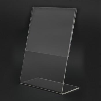 Acrylic Portrait A5 L-Shape Display Stand - 150mm (W) x 210mm (H)