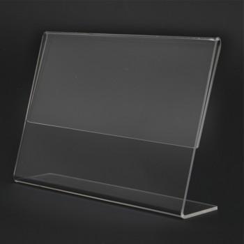 Acrylic Landscape A5 L-Shape Display Stand - 210mm (W) x 150mm (H)