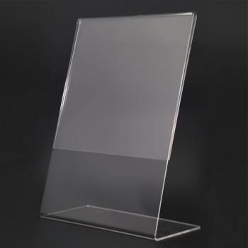 Acrylic Portrait A4 L-Shape Display Stand - 210mm (W) x 297mm (H)