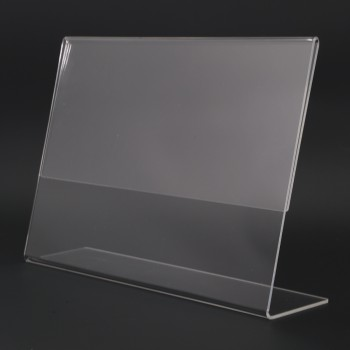 Acrylic Landscape A4 L-Shape Display Stand - 297mm (W) x 210mm (H)