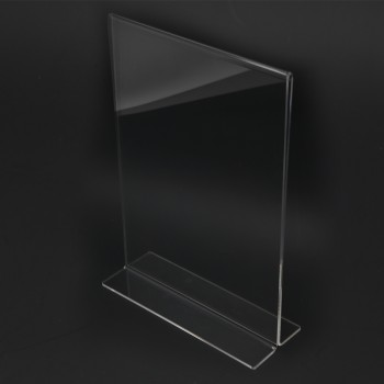 Acrylic Portrait A4 T-Shape Display Stand - 210mm (W) x 297mm (H)