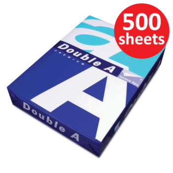 Double A Paper 80gsm - A4 size - 1 ream - 500 sheets