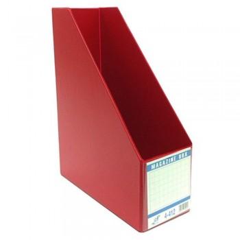 """EAST FILE PVC MAGAZINE BOX 412 5"""" Red (Item No: B11-96 RD)"""