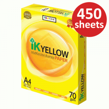 IK Yellow Paper 70gsm - A4 size - 1 ream - 450 sheets