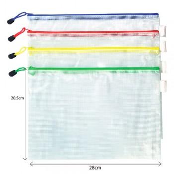 Soft Mesh Zipper Bag B5