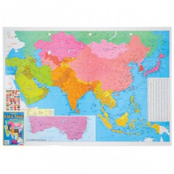 "Map Of Asia A175M - (Magnetic) H28"" x W40"""