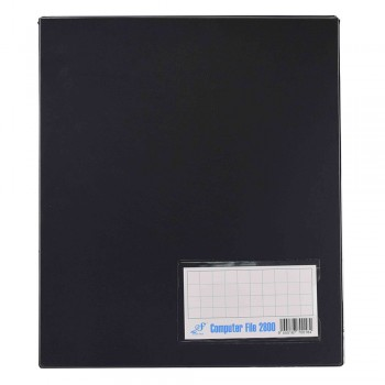 PVC COMPUTER FILE A4 - Black (Item No : C01 21 BK)