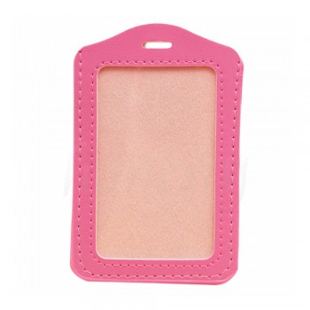 Leather Name Tag Potrait Pink (54x85mm)
