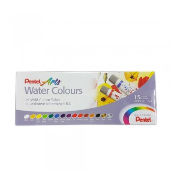 PENTEL ARTS WATER COLOURS 5ML 15 COLOURS (WFRS-15)