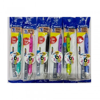 Pilot REXGRIP Mechanical Pencil 0.7mm Pastel Color VALUE PACK (Random Pick Colour)