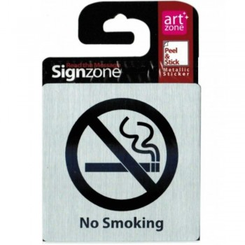 Signzone P&S Metallic-9595 No Smoking (Item No: R01-01 NOSMOKIN)