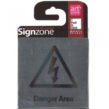 Signzone Peel & Stick Metallic Sticker - Danger Area (Item No: R01-36)