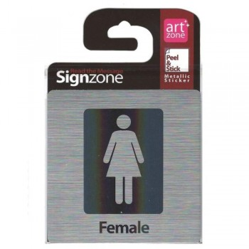 Signzone Peel & Stick Metallic Sticker - Female (Item No: R01-39)