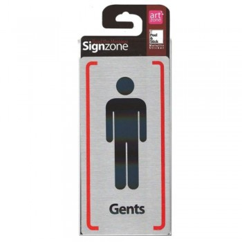 Signzone Peel & Stick Metallic Sticker - Gents (Item No: R01-54)