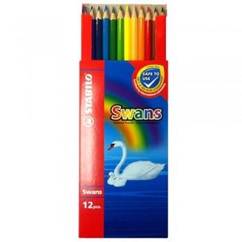 STABILO Swans Colored Pencil - Long 12pcs 1877 (Item No: B05-17) A1R2B145