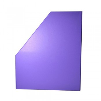 "6"" PVC Magazine Box File - Fancy Purple"