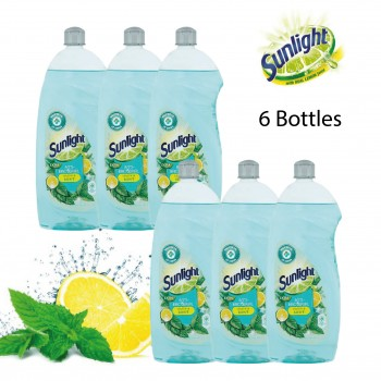 Sunlight Dishwashing Liquid Extra Anti-Bacterial Lemon & Mint - 900ml Bundle