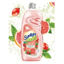 Sunlight Dishwashing Liquid Extra Gentle Grapefruit and Rose Hip - 900ml